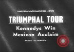 Image of John F Kennedy Mexico, 1962, second 4 stock footage video 65675073149