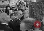 Image of unveiling of statue Greece, 1963, second 11 stock footage video 65675073169