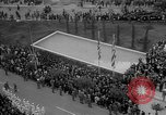 Image of unveiling of statue Greece, 1963, second 34 stock footage video 65675073169