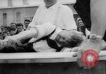 Image of finger wrestling Bavaria Germany, 1963, second 25 stock footage video 65675073171