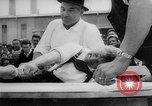 Image of finger wrestling Bavaria Germany, 1963, second 26 stock footage video 65675073171
