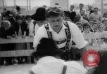 Image of finger wrestling Bavaria Germany, 1963, second 34 stock footage video 65675073171