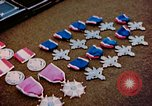 Image of decorations on table European Theater, 1945, second 3 stock footage video 65675073244