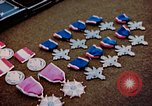 Image of decorations on table European Theater, 1945, second 7 stock footage video 65675073244