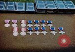 Image of decorations on table European Theater, 1945, second 10 stock footage video 65675073244