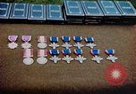 Image of decorations on table European Theater, 1945, second 11 stock footage video 65675073244