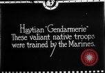 Image of Haitian Gendarmerie Haiti West Indies, 1924, second 1 stock footage video 65675073266