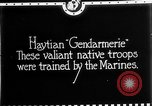 Image of Haitian Gendarmerie Haiti West Indies, 1924, second 4 stock footage video 65675073266