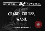 Image of Grand Coulee Dam Washington DC USA, 1940, second 3 stock footage video 65675073338