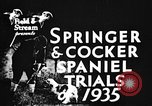 Image of Cocker Spaniels Verbank New York USA, 1935, second 2 stock footage video 65675073362