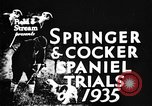 Image of Cocker Spaniels Verbank New York USA, 1935, second 6 stock footage video 65675073362