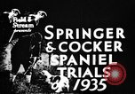 Image of Cocker Spaniels Verbank New York USA, 1935, second 8 stock footage video 65675073362