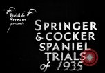 Image of Cocker Spaniels Verbank New York USA, 1935, second 13 stock footage video 65675073362