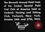 Image of Cocker Spaniels Verbank New York USA, 1935, second 38 stock footage video 65675073362