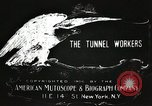 Image of tunnel workers New York United States USA, 1905, second 3 stock footage video 65675073369