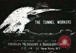 Image of tunnel workers New York United States USA, 1905, second 8 stock footage video 65675073369