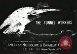 Image of tunnel workers New York United States USA, 1905, second 11 stock footage video 65675073369