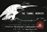 Image of tunnel workers New York United States USA, 1905, second 12 stock footage video 65675073369