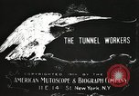 Image of tunnel workers New York United States USA, 1905, second 13 stock footage video 65675073369