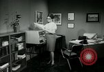 Image of woman worker arguing with boss United States USA, 1965, second 42 stock footage video 65675073400