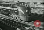 Image of 1940s passenger railroad train operations and personnel United States USA, 1948, second 15 stock footage video 65675073411