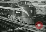 Image of 1940s passenger railroad train operations and personnel United States USA, 1948, second 16 stock footage video 65675073411