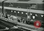 Image of 1940s passenger railroad train operations and personnel United States USA, 1948, second 19 stock footage video 65675073411