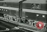 Image of 1940s passenger railroad train operations and personnel United States USA, 1948, second 20 stock footage video 65675073411