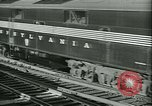 Image of 1940s passenger railroad train operations and personnel United States USA, 1948, second 21 stock footage video 65675073411
