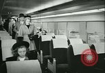 Image of 1940s passenger railroad train operations and personnel United States USA, 1948, second 34 stock footage video 65675073411