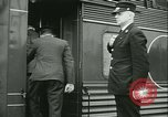 Image of 1940s passenger railroad train operations and personnel United States USA, 1948, second 54 stock footage video 65675073411