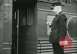Image of 1940s passenger railroad train operations and personnel United States USA, 1948, second 55 stock footage video 65675073411