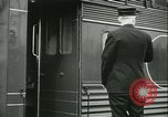 Image of 1940s passenger railroad train operations and personnel United States USA, 1948, second 56 stock footage video 65675073411