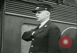 Image of 1940s passenger railroad train operations and personnel United States USA, 1948, second 58 stock footage video 65675073411
