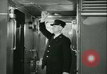 Image of 1940s passenger railroad train operations and personnel United States USA, 1948, second 62 stock footage video 65675073411