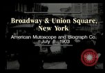 Image of New York City street scene early 1900s New York City USA, 1903, second 1 stock footage video 65675073418
