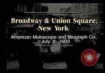 Image of New York City street scene early 1900s New York City USA, 1903, second 3 stock footage video 65675073418