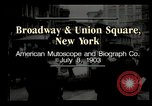 Image of New York City street scene early 1900s New York City USA, 1903, second 4 stock footage video 65675073418