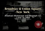 Image of New York City street scene early 1900s New York City USA, 1903, second 5 stock footage video 65675073418