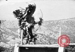 Image of buffalo dance by San Ildefonso Pueblo Tewa Native American Indians San Ildefonso Pueblo New Mexico USA, 1929, second 55 stock footage video 65675073458