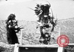 Image of buffalo dance by San Ildefonso Pueblo Tewa Native American Indians San Ildefonso Pueblo New Mexico USA, 1929, second 56 stock footage video 65675073458