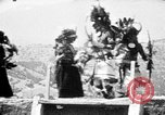 Image of buffalo dance by San Ildefonso Pueblo Tewa Native American Indians San Ildefonso Pueblo New Mexico USA, 1929, second 57 stock footage video 65675073458