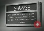 Image of Pentagon message delivery system Washington DC USA, 1958, second 32 stock footage video 65675073533