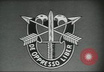 Image of Special Forces soldiers United States USA, 1955, second 6 stock footage video 65675073601