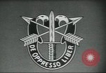 Image of Special Forces soldiers United States USA, 1955, second 8 stock footage video 65675073601