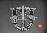 Image of Special Forces soldiers United States USA, 1955, second 9 stock footage video 65675073601