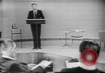 Image of presidential election debate Chicago Illinois USA, 1960, second 10 stock footage video 65675073638