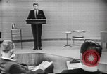Image of presidential election debate Chicago Illinois USA, 1960, second 13 stock footage video 65675073638