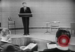 Image of presidential election debate Chicago Illinois USA, 1960, second 19 stock footage video 65675073638