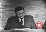 Image of presidential election debate Washington DC USA, 1960, second 10 stock footage video 65675073648